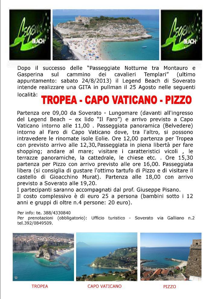 TROPEA-CAPO VATICANO-PIZZO gita
